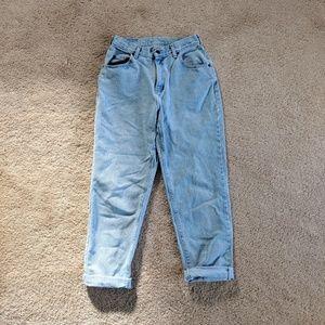 Light Wash Lee High Waisted Mom Jeans